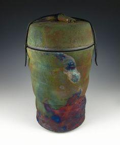 raku cremation urns   00 raku urn tall and mossy rock urn 01 042