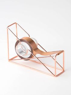 Give your office an authentic, sophisticated feel with the Copper Wire Tape Dispenser. With its copper wire construction that can fit infinite color palettes, this tape dispenser gives your desk a unique touch while keeping your stuff organized. Rose Gold Room Decor, Rose Gold Rooms, Gold Bedroom, Bedroom Decor, Cool School Supplies, Office Supplies, Gold Office, Tape Dispenser, Cute Room Decor