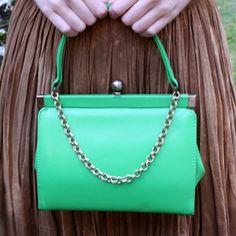 Handtasche Grün 1950er, 65€, jetzt auf Fab.