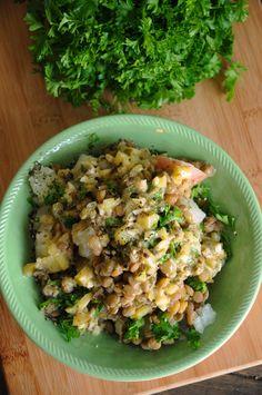 Warm Potato Lentil Salad | Vegan Recipes from Cassie Howard