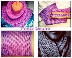 Punto Géminis en Telar Maya/ Gemini stitch on loom