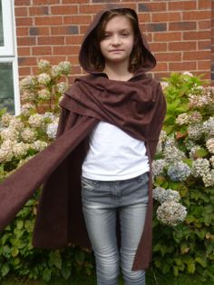 Medieval style Archer Cape cloak for a child in by SewCoolCreation, $40.00