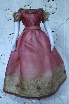 красивое платье для антикварная французской моды кукла 18 дюймов. (1860years) in Куклы и мягкие игрушки, Куклы, Одежда и аксессуары, Антикварные и винтажные изделия | eBay