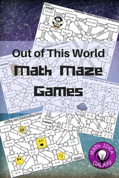 Math maze games are a great addition to the math classroom. Just print and go and watch students be way more interested in practice than they are with a simple worksheet. In this article you'll find ideas and tips for using maze games in your classroom.