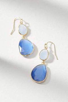 Such a beautiful blue! Anthropologie Yasmin Drop Earrings #anthropologie #anthrofave #anthrohome #earrings #gemstone #giftsforher #ad