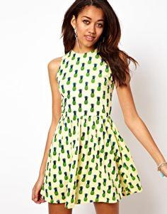 Motel Pineapple Print Dress