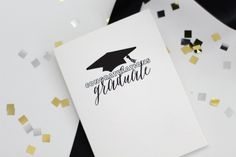 CONGRATULATIONS GRADUATE card // Gratulations card // GRAD card // Card for Graduates // Graduation occasion card // card for any grad by kardzkouture on Etsy