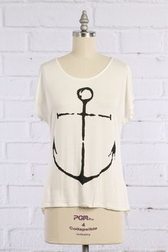 Anchor T-Shirt | Distributor: Sway | S, M, L $27 — Will order Monday, 6/1 Material: 96% Rayon, 4% Spandex Made In USA: