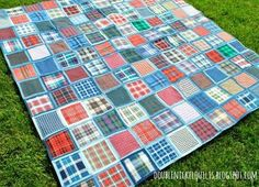 Double Nickel Quilts: How to make a quilt from your jeans and denim skirts.