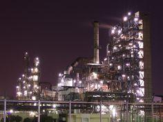 Factory Night View in Ukisimacho Kawasaki #kanagawa #japan