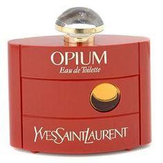 OPIUM Perfume ... On jouait avec les bouteilles vides récupérées des vieux parfums des tatas ...