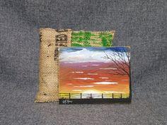 Little Painting sunset painting mini farm by TheWhiteBirchStudio
