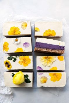 Blueberry Lemon Cheesecake (raw, vegan & grain-free) - Nirvana Cakery -You can find Lemon and more on our website. Desserts Végétaliens, Raw Vegan Desserts, Vegan Sweets, Raw Food Recipes, Dessert Recipes, Raw Vegan Cake, Vegan Cupcakes, Freezer Recipes, Freezer Cooking