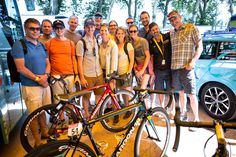 TBT guests with Astana Pro Team's Argon 18's Tour de France bikes. Sorry, no test rides.