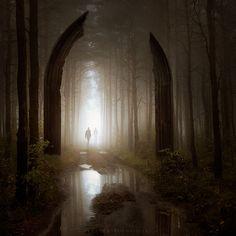 """""""Lost Between Worlds"""" by Leszek Bujnowski (Alshain4 @ DeviantArt.com) (© 2010)."""