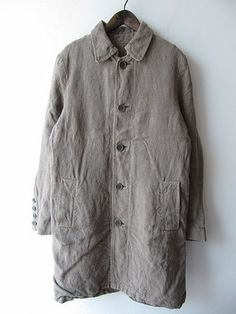 Washed grey | Faded | Coat | Vlas Blomme