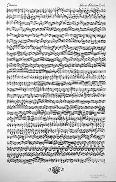 The most beautiful 14 minutes spent. ALL ON ONE PAGE. What... <3 Bach's Chaconne