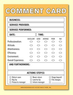 generic comment card card templates resume template free templates free pinterest pinterest