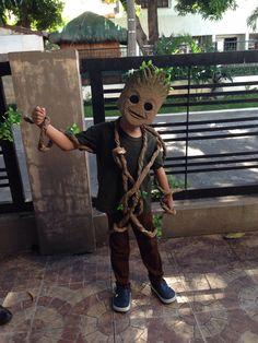 Our son Mason as baby groot! Halloween 2014. Made with love by Daddy Dodge. from PH.