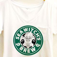 Sea Witch's Brew Coffee Shirt   Ursula The Little Mermaid Starbucks   Disney Villain