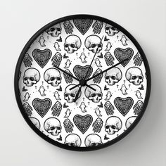 Ghostly Dreams II wall clock: $30 This design is also available as a pillow, print, mug, and much more on my Society 6 webstore, please check it out! #fashion #tote #bag #purse #accessories #pillow #design #interiordesign #decoration #decorating #bedroom #interior #inspiration #home #bed #bedding #duvet #bedspread #skull #skulls #ghost #creepy #edgy #grunge #white #illustration #society6 #print #clock #wall art #office supplies