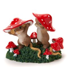 Charming Tails Come Join Us Mushroom Figure Mouse NEW 4017346 NIB ...