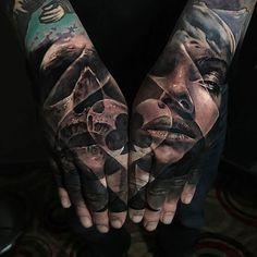 Here's a poker double hand piece done by Sullen Artist @jakconnollyart