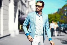 High fashion look.Young stylish confident happy handsome businessman model in suit cloth lifestyle in the street in sunglasses High fashion look.Young stylish confident happy handsome businessman model in suit cloth lifestyle in the street in sunglasses Fashion Clothes Online, Online Fashion Boutique, Fashion Dresses, New Mens Fashion, Men's Fashion, Half Sleeve Shirts, Man Dressing Style, High Fashion Looks, Fashion Marketing