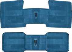 Mopar Parts | MJ1002 | 1967-74 Mopar Medium Blue Original Style Rubber Floor Mats | Classic Industries