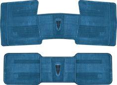 Mopar Parts | MJ1002 | 1967-74 Mopar Medium Blue Original Style Rubber Floor Mats | Classic Industries