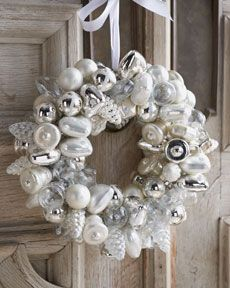 mercury glass wreath