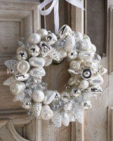 mercury glass wreath