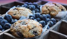 Blueberry Almond Crumb Muffins | The Mommypotamus | organic SAHM sharing her family stories and recipes