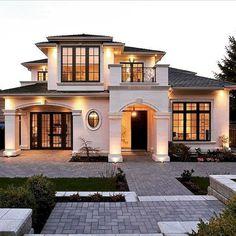 60 Most Popular Modern Dream House Exterior Design Ideas – Ideaboz – 60 Mos… - Traumhaus Dream Home Design, Modern House Design, Villa Design, Facade Design, Dream House Exterior, House Exteriors, House Ideas Exterior, Bungalow Exterior, Facade House