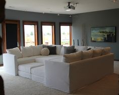 Contemporary Sectional Design, Looks like a bed. Quatrine Furniture has one like this also its perfect for a family room!