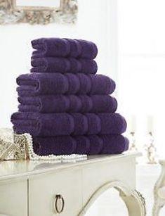 Zero Twist Purple Hand Towel Bath Towel &Bath Sheets – Linen and Bedding