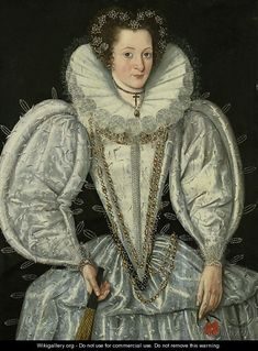 1590s - Portrait of a lady 3 - (after) George Gower