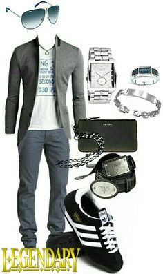 Men's fashion casual jacket outfit