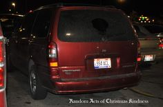 Random Acts of Christmas Kindness Scavenger Hunt.   Leave a car wash gift certificate on a dirty car.