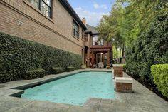 6355 Sewanee Ave. View of the custom pool. Bernstein Realty, Houston Real Estate