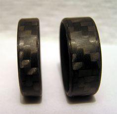 Carbon fiber wedding band