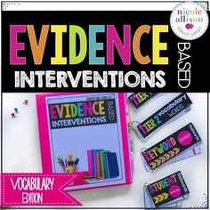 There is often a lot of insecurity and fear surrounding those two little words Evidence-Based but there doesnt need to be! I created this resource to help educators and myself easily provide vocabulary interventions that have been proven effective AND do them with little stress!