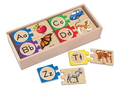 Amazon.com: Melissa & Doug Self-Correcting Letter Puzzles: Toys & Games