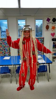 Adult spaghetti and meatballs costume. Home made costumes