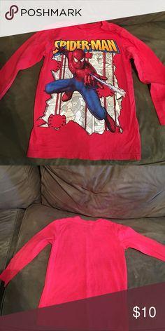 Spiderman boys shirt Boys spiderman shirt gently worn. Size small (5/6) Marvel Shirts & Tops Tees - Long Sleeve