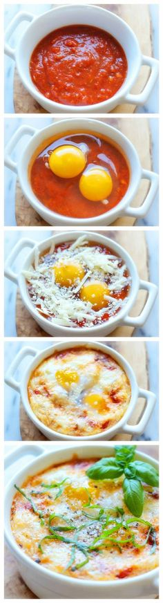 eggs are cheap and sauce is commonly found in food basket ITALIAN BAKED EGGS
