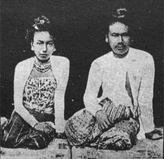 King Thibaw and Queen Su Phayar Lat, who were the last king & queen of Konbaung Dynasty, and of Myanmar.