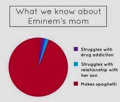 Spaghetti  #eminem #lyrics #spaghetti #mom #mother #venndiagram #piechart