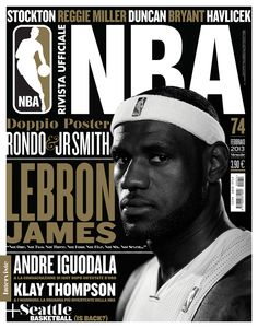 Rivista NBA / Covers 2012-13 by Francesco Poroli, via Behance