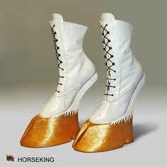 "Items similar to Hoof boots - model ""Unicorn"" on Etsy Creative Shoes, Unique Shoes, Weird Fashion, Fashion Shoes, Crazy Heels, Funny Shoes, Shoe Boots, Shoes Heels, Kicks Shoes"